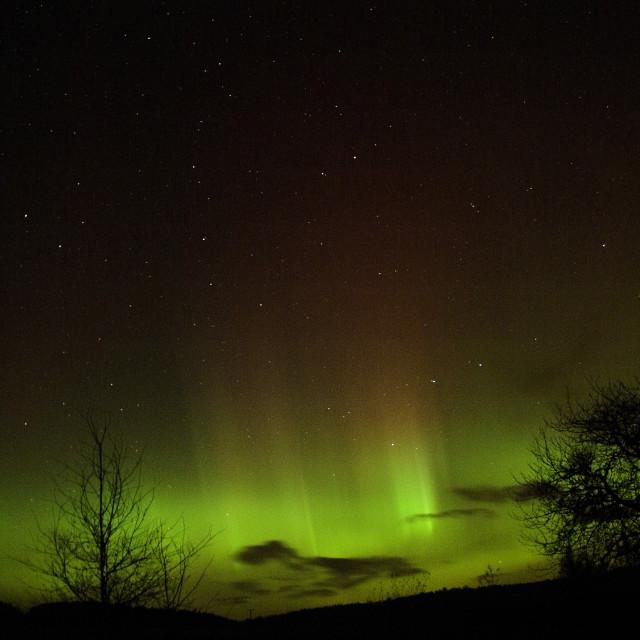 """""""aurora borealis rays"""" stock image"""
