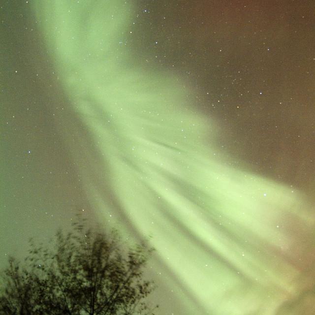 """aurora corona rays"" stock image"
