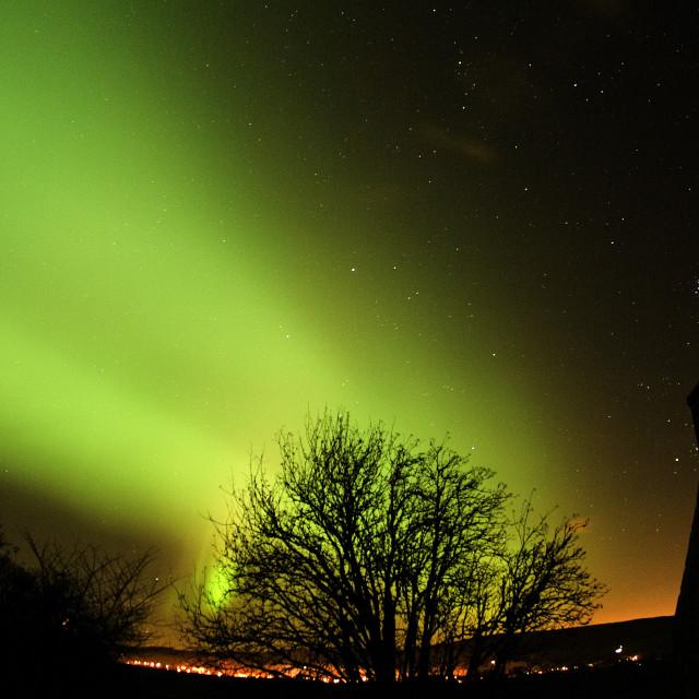 """""""aurora rays east pleiades"""" stock image"""