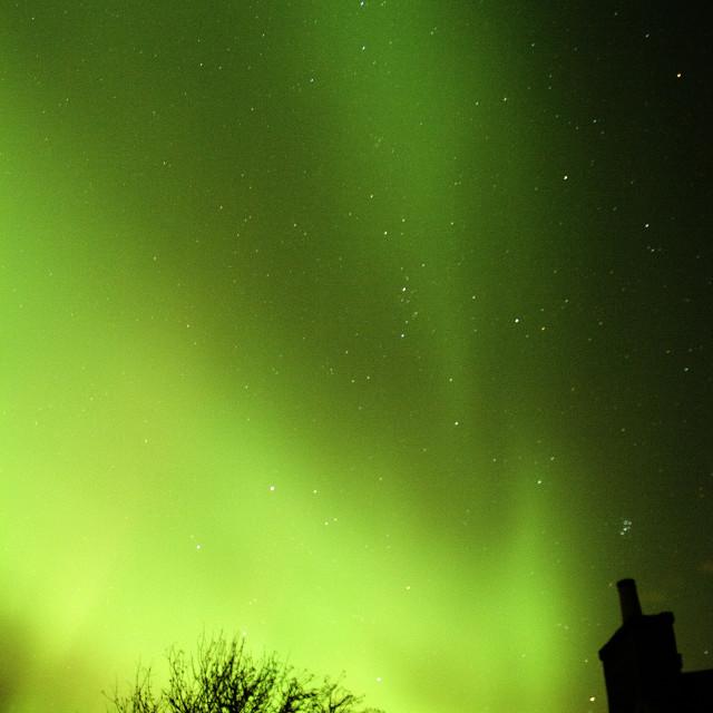 """""""aurora & pleiades stars"""" stock image"""