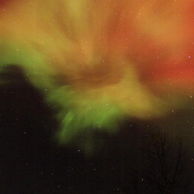 """aurora corona zenith"" stock image"
