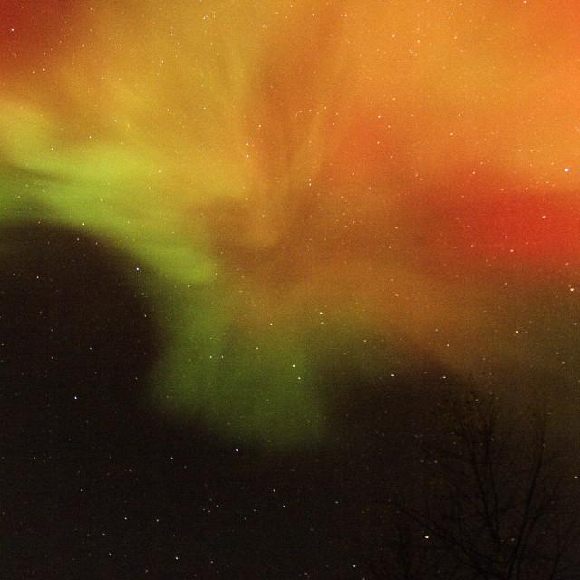 """auroar borealis corona swirl"" stock image"