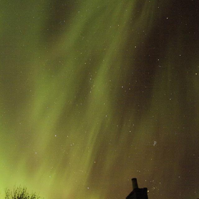 """aurora rays east scotland"" stock image"