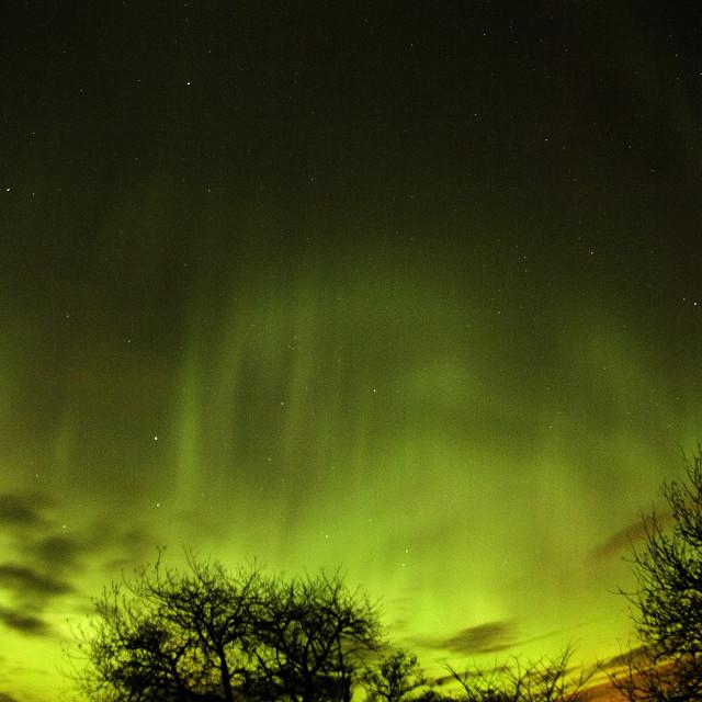 """aurora rays scotland"" stock image"