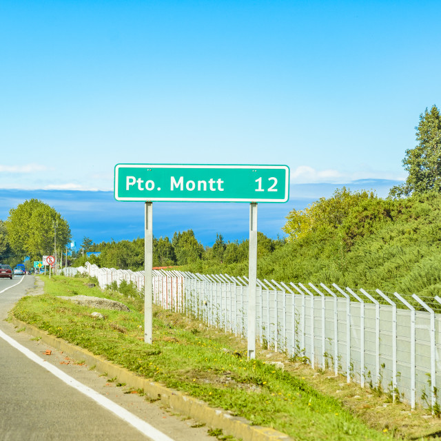 """""""Puerto Montt Highway, Patagonia, Chile"""" stock image"""