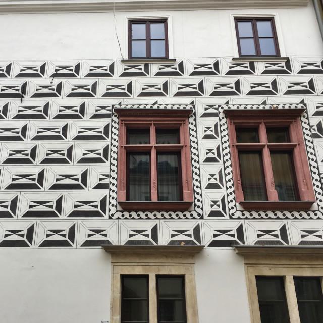 """Kraków facade, ul. Kanonicza"" stock image"