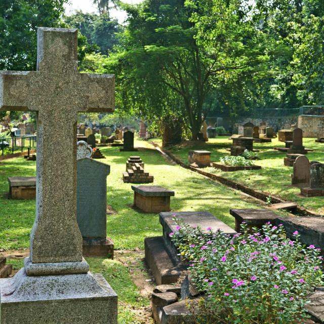 """Kandy Garrison Cemetery"" stock image"