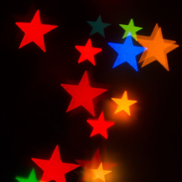 """Bokeh stars 1"" stock image"