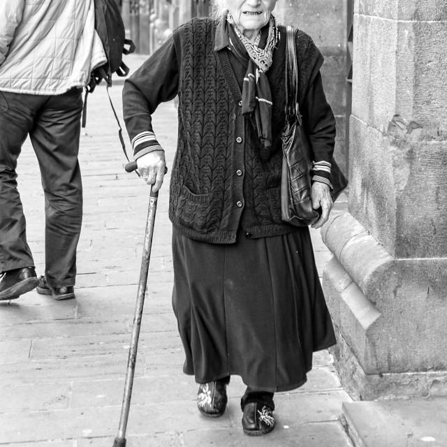 """Old Lady|Tbilisi"" stock image"