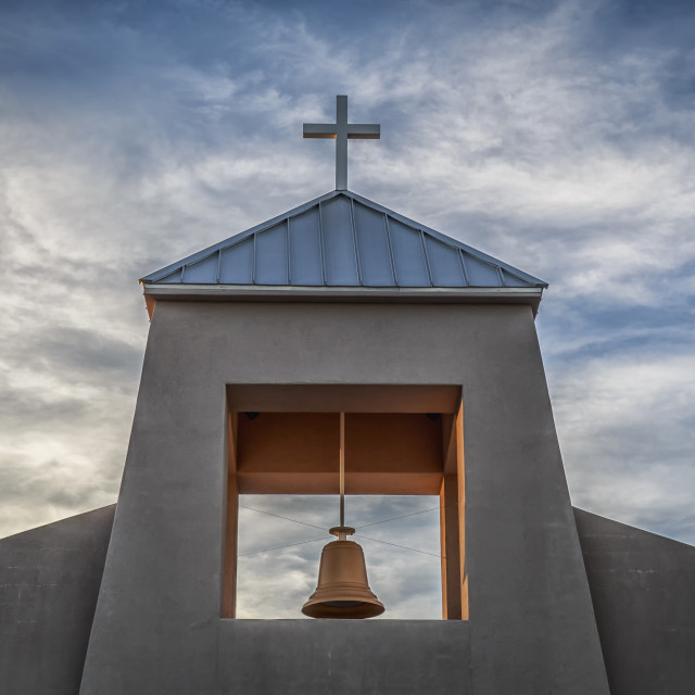 """""""Church Bell And Cross"""" stock image"""
