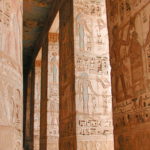 """Karnak Columns"" stock image"