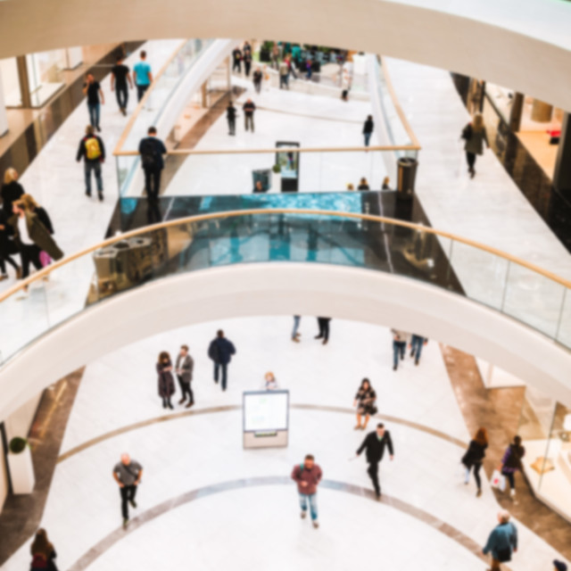 """""""Shopping center gallery, defocused or blured"""" stock image"""