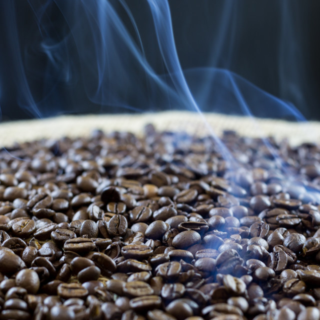 """Roasted coffee beans"" stock image"