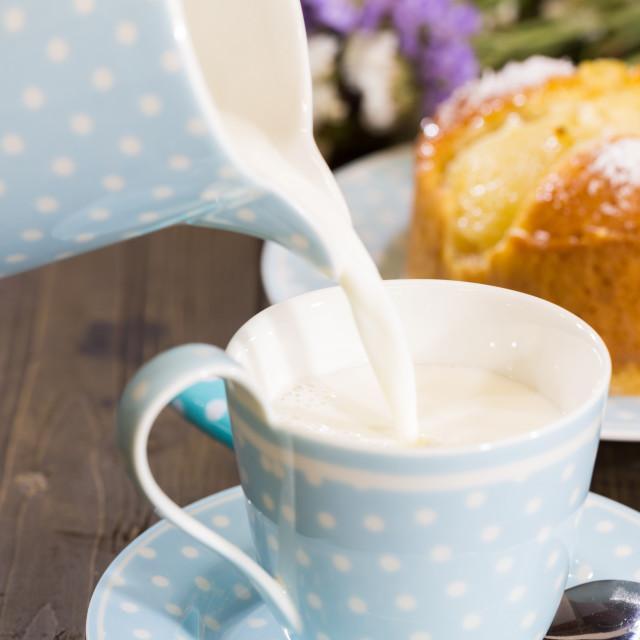 """Breakfast with milk"" stock image"
