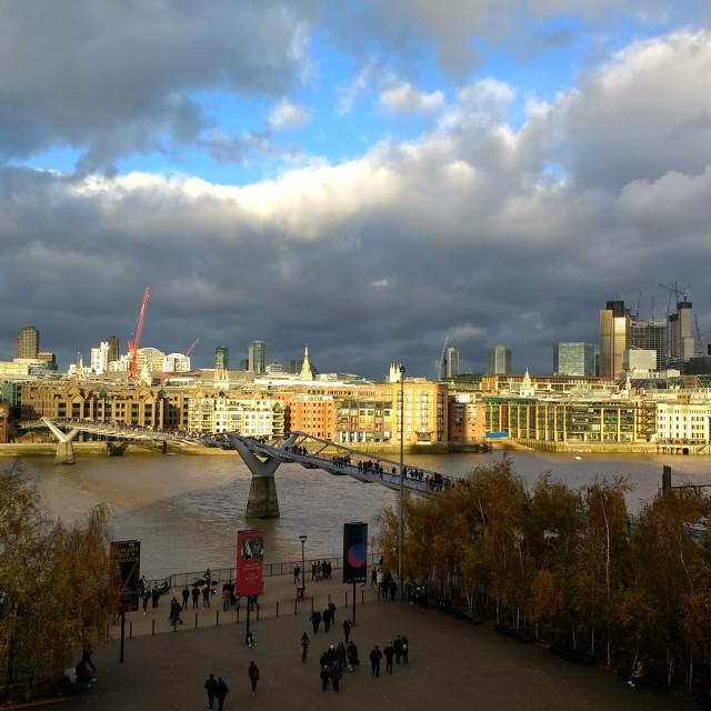 """River Thames, London"" stock image"