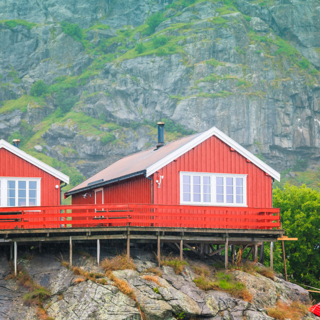 """Norway, island of Nusfjord"" stock image"