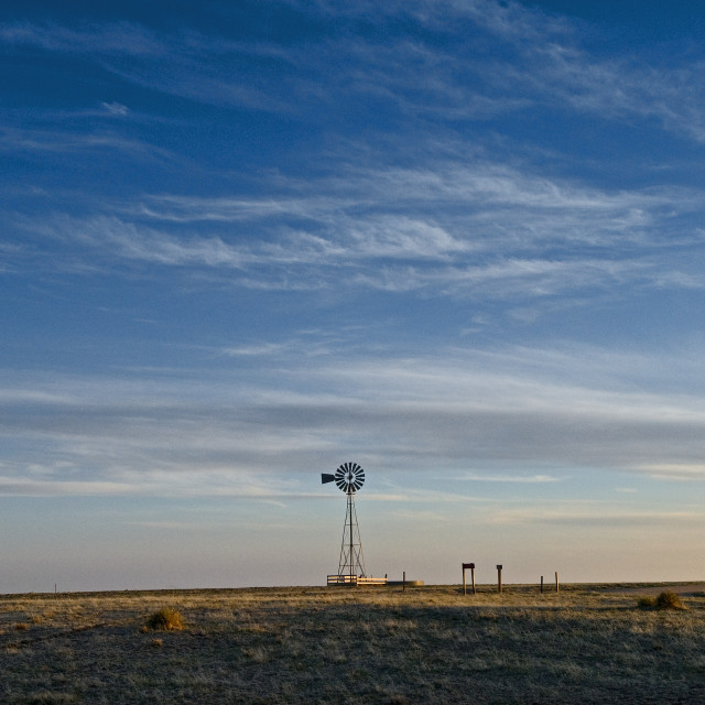 """Pawnee Grasslands Windmill"" stock image"
