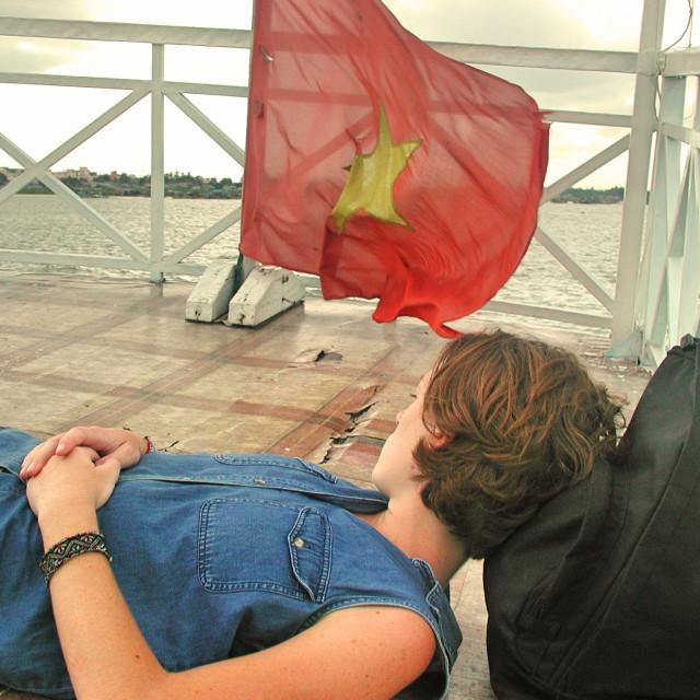 """""""Mekong Nap"""" stock image"""
