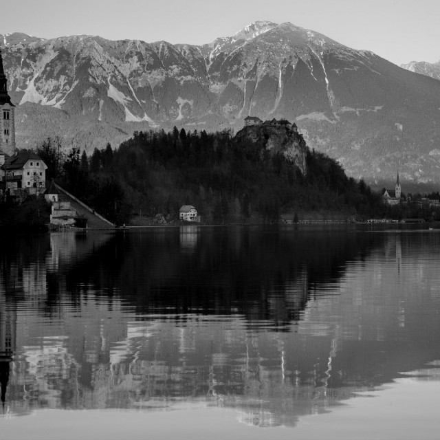 """Bled lake"" stock image"