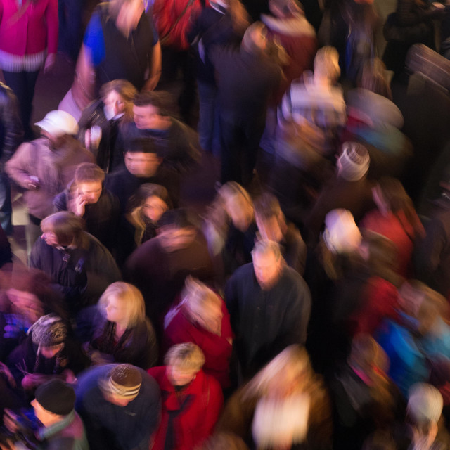"""Moving crowd"" stock image"