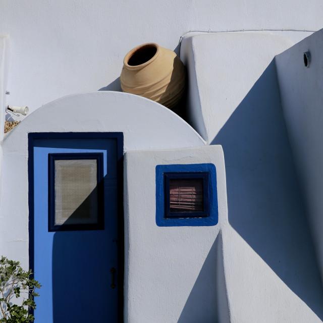 """Santorini house"" stock image"
