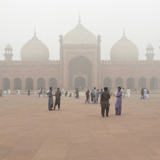 """Badshahi Mosque, Lahore, Pakistan"" stock image"