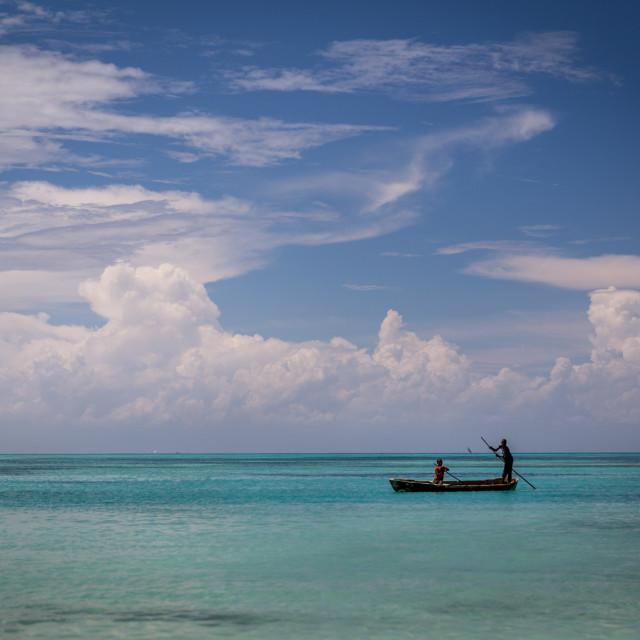 """Fishermen in Zanzibar"" stock image"