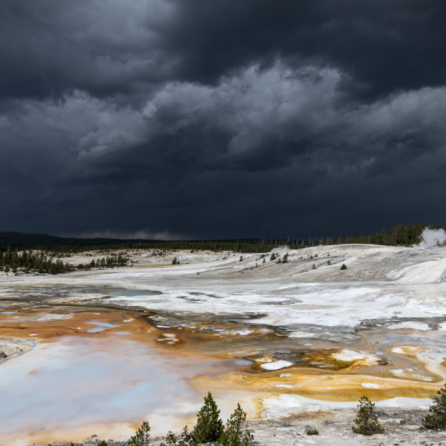 """""""Stormy Skies Over Porcelain Basin"""" stock image"""