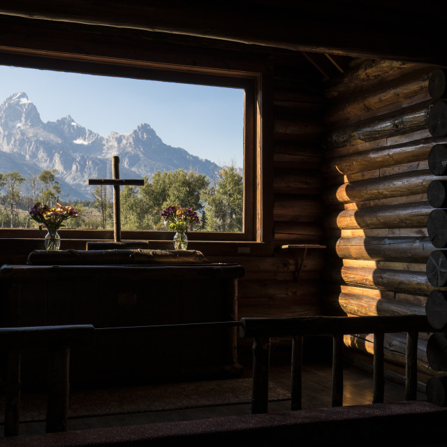 """The Chapel of Transfiguration"" stock image"