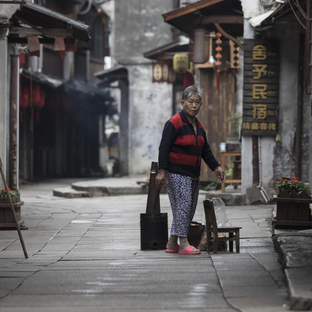 """""""Early morning in Xitang"""" stock image"""
