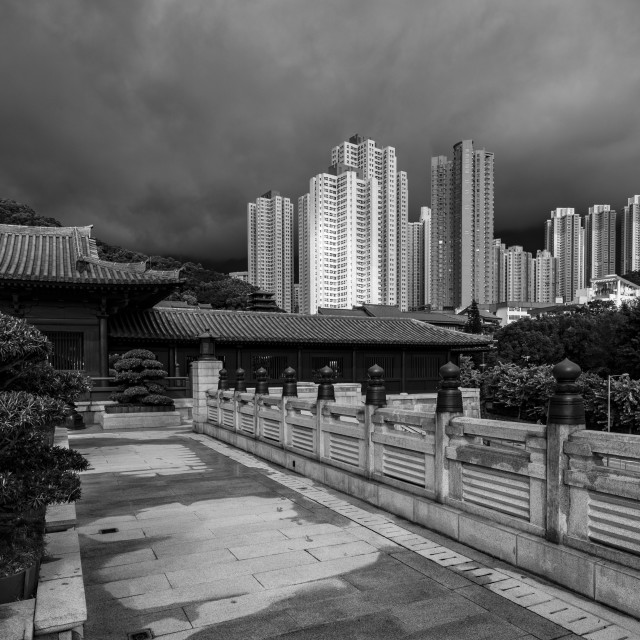 """Cheek by Jowl in Hong Kong"" stock image"