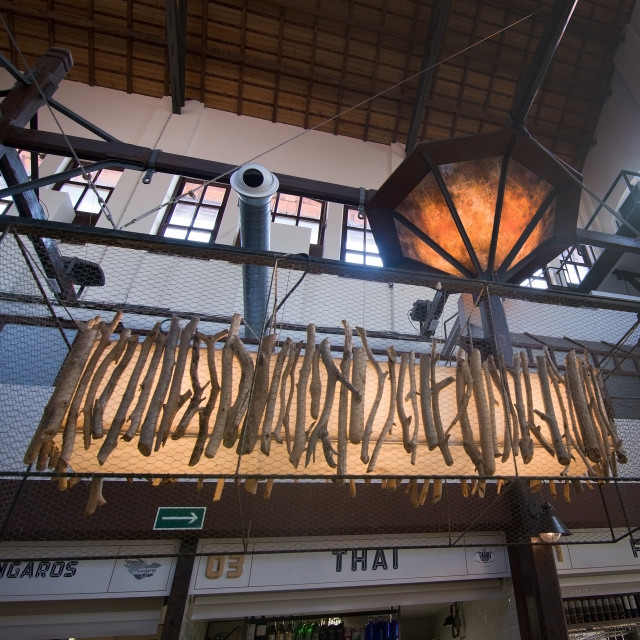 """Sant Juan Market interior detail"" stock image"