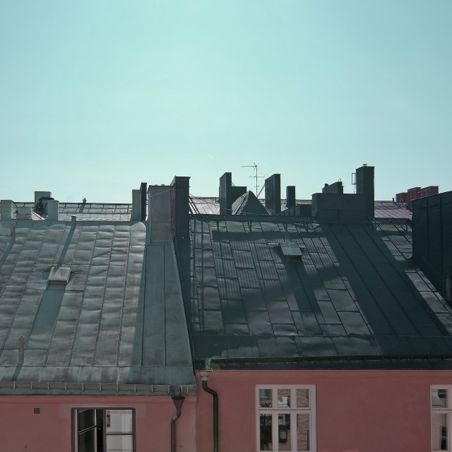 """""""Rooftop view Stockholm"""" stock image"""