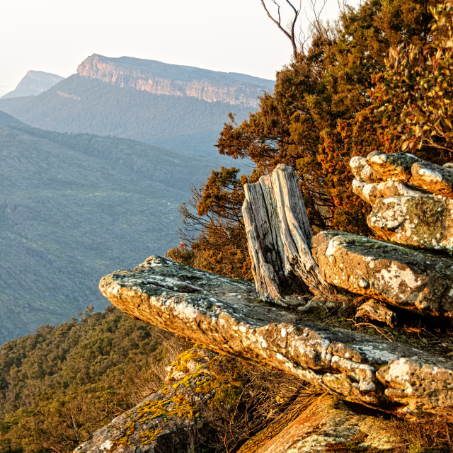"""First rays of the sun - Grampians"" stock image"