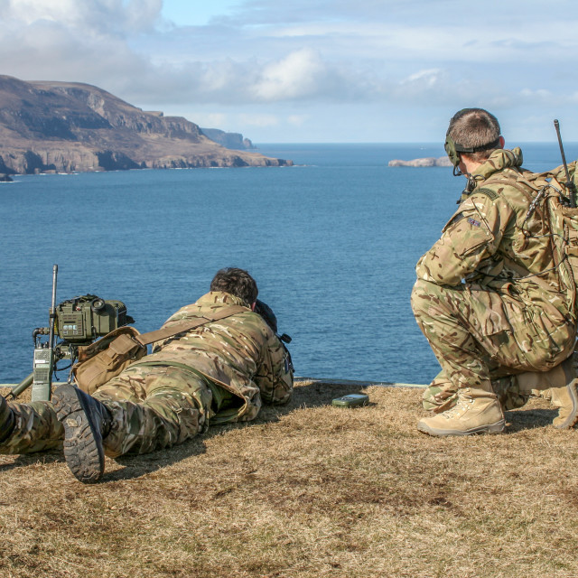 """Cape Wrath JTAC's"" stock image"