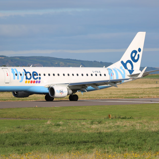 """Flybe Embraer"" stock image"