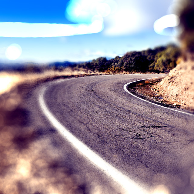 """""""Abstract curved road.Travel car concept."""" stock image"""