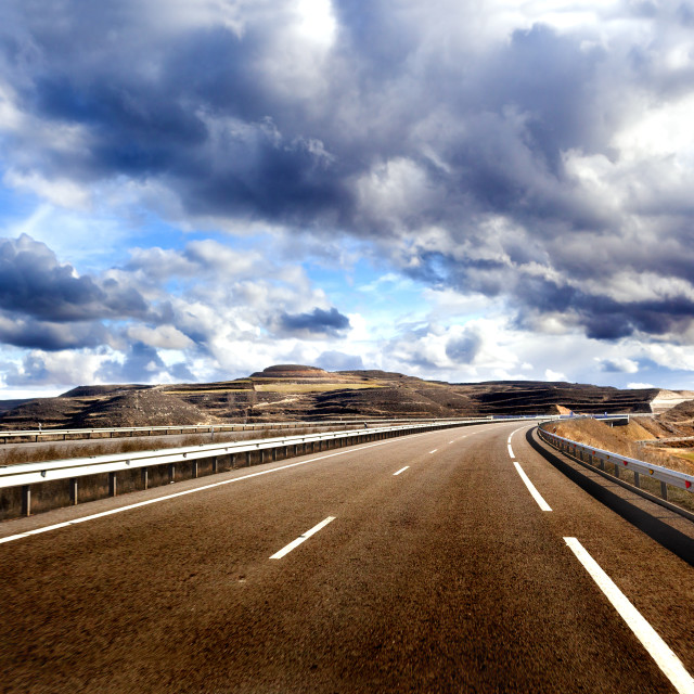 """""""Empty highway,road and car travel concept"""" stock image"""