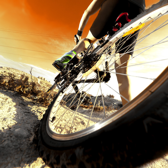 """Mountain bike.Sport and healthy life"" stock image"