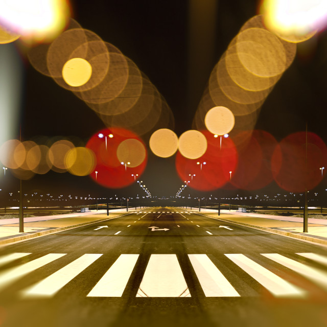 """Abstract cityscape at night background"" stock image"