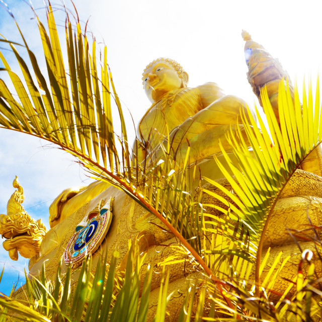 """Exotic travels and adventures .Thailand trip.Buddha and landmarks"" stock image"