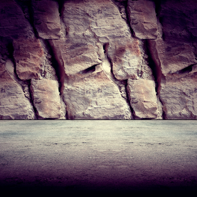 """Concrete and rock floor background"" stock image"