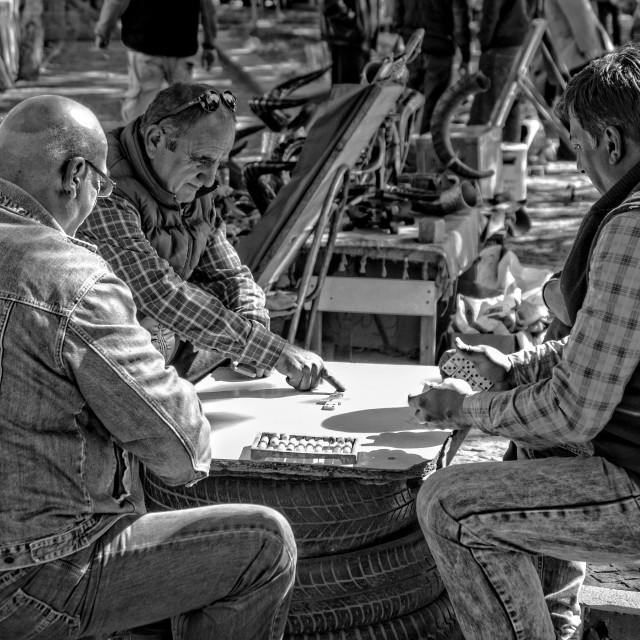 """Playing dominoes | Georgia"" stock image"