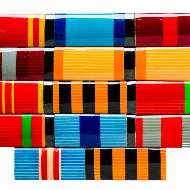 """""""Collection Of Russian (Soviet) Medal Ribbons For Participation In The Second..."""" stock image"""