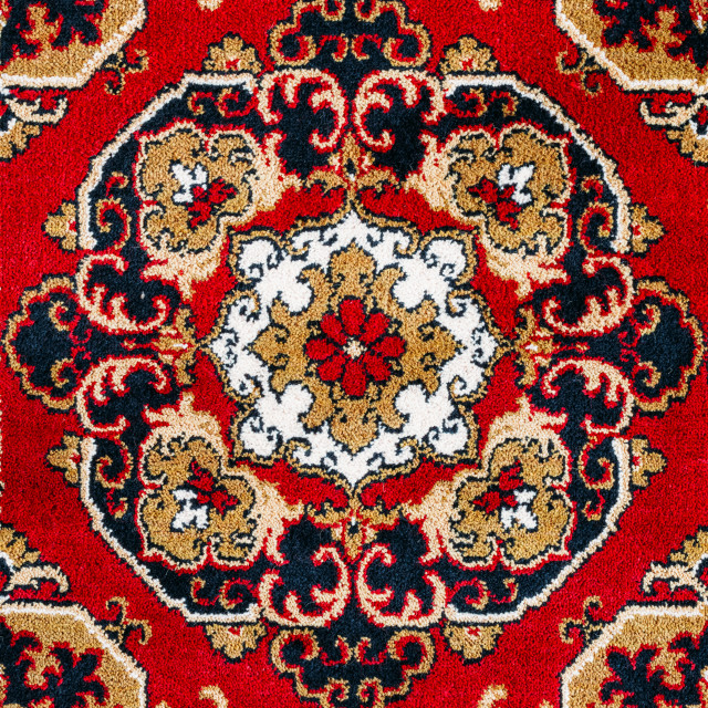 """""""Red Oriental Carpet Texture Background"""" stock image"""