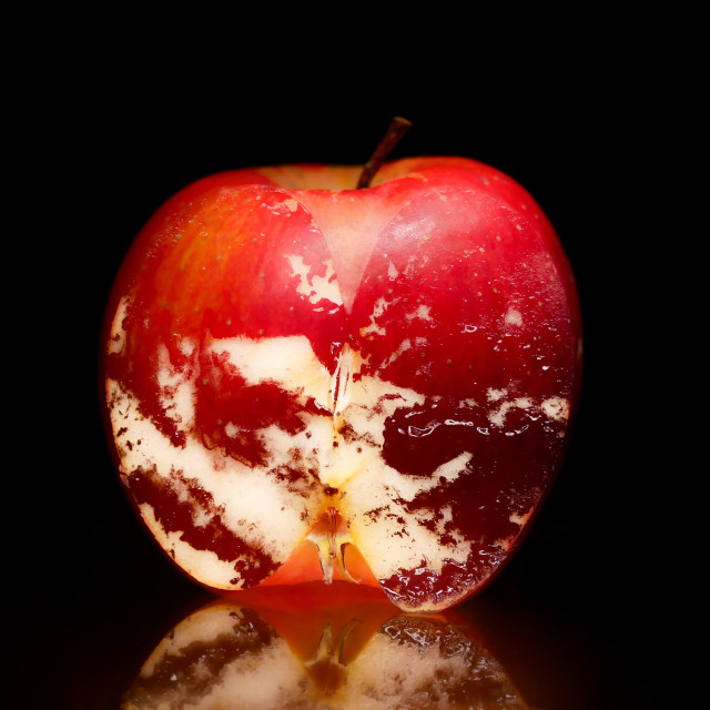 """""""An Apple a Day Keeps the Doctor Away"""" stock image"""