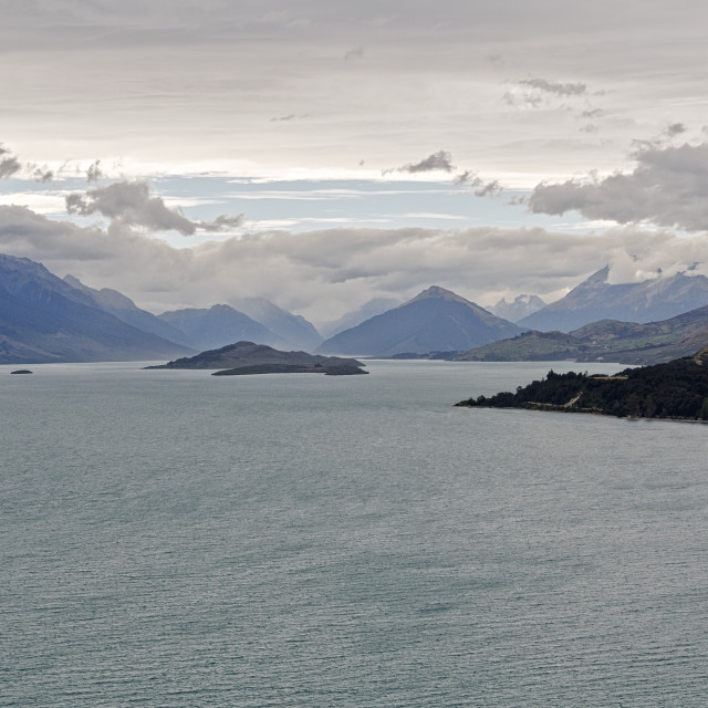 """Lake Wakatipu 3 - Queenstown"" stock image"