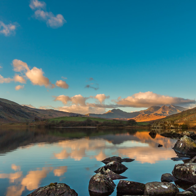 """Snowdonia Sunrise"" stock image"