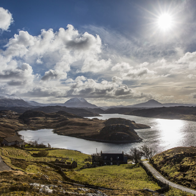 """View from Badcall,NW Sutherland"" stock image"
