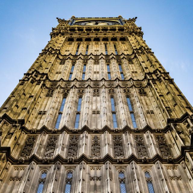 """Imposing Clock Tower"" stock image"